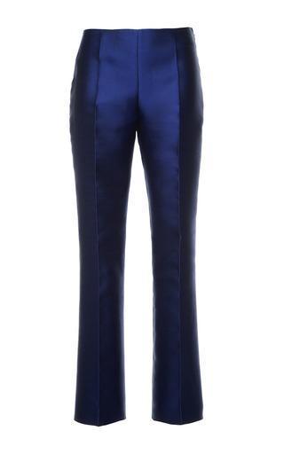 Antonio berardi marine blue duchess cropped trousers by ANTONIO BERARDI Preorder Now on Moda Operandi