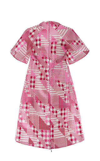 Short Sleeve Patchwork Dress by Antonio Berardi for Preorder on Moda Operandi