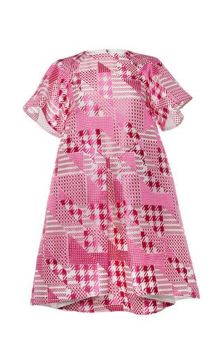 Short sleeve patchwork dress by ANTONIO BERARDI Preorder Now on Moda Operandi