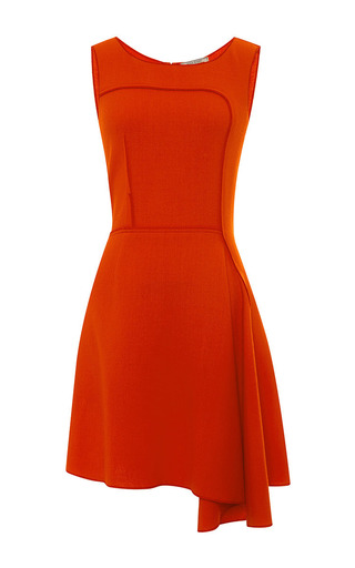Asymmetric-hem wool-crepe dress by NINA RICCI Available Now on Moda Operandi