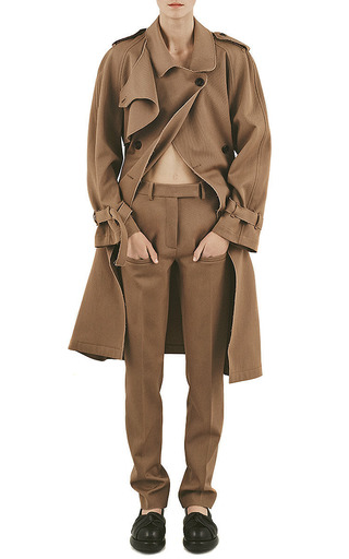 J.W. Anderson Wool Drill Trench Coat by J.W. Anderson for Preorder on Moda Operandi