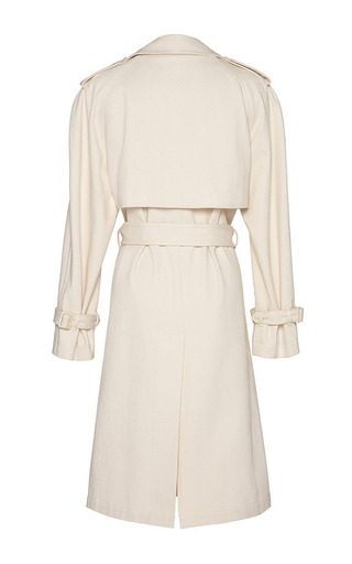 J.W. Anderson Cotton Drill Trench Coat With Wrap Front by J.W. ANDERSON Now Available on Moda Operandi