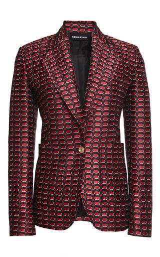 Tie pattern jacquard jacket by SONIA RYKIEL Preorder Now on Moda Operandi