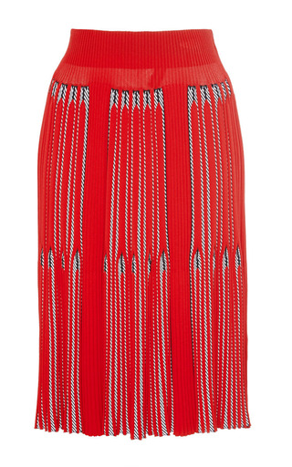 Rib and chevron jacquard skirt by SONIA RYKIEL Preorder Now on Moda Operandi