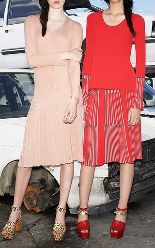 Rib And Chevron Jacquard Long Sleeves Jumper by Sonia Rykiel for Preorder on Moda Operandi