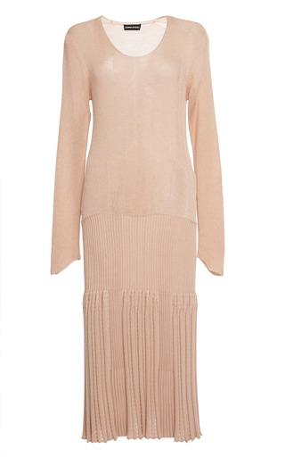 Iridescent rib long sleeves dress by SONIA RYKIEL Preorder Now on Moda Operandi