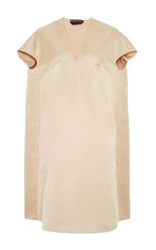 Satin v-neck dress by ROCHAS Now Available on Moda Operandi