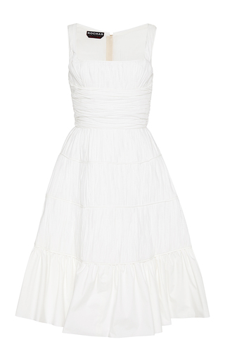 Gathered cotton dress by ROCHAS Available Now on Moda Operandi