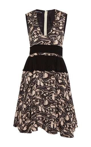 Silk swan print dress by ROCHAS Now Available on Moda Operandi