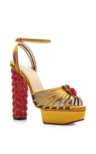 Roslanida silk-satin platform sandals by CHARLOTTE OLYMPIA Available Now on Moda Operandi