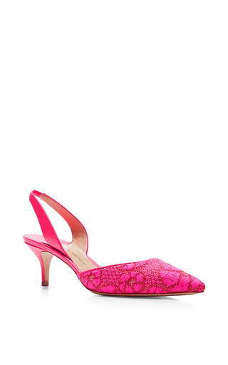 Rhea floral brocade pumps by PAUL ANDREW Now Available on Moda Operandi