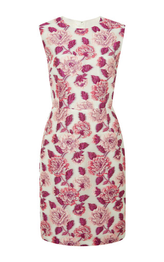 Floral-cloqué dress by GIAMBATTISTA VALLI Available Now on Moda Operandi