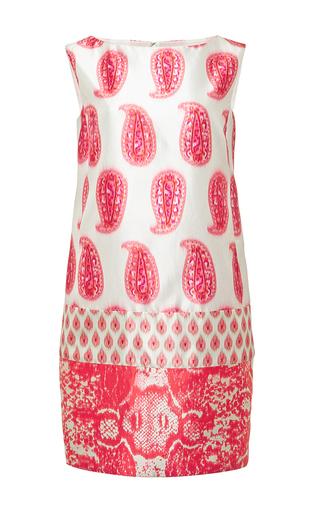 Silk mixed print shift dress by GIAMBATTISTA VALLI Available Now on Moda Operandi