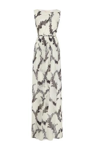 Black and white printed silk gown by GIAMBATTISTA VALLI Available Now on Moda Operandi