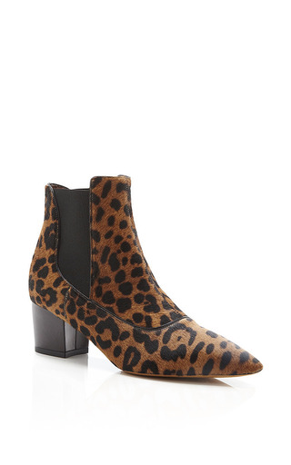 Tabitha Simmons - Shadow Printed Calf Hair Ankle Boots