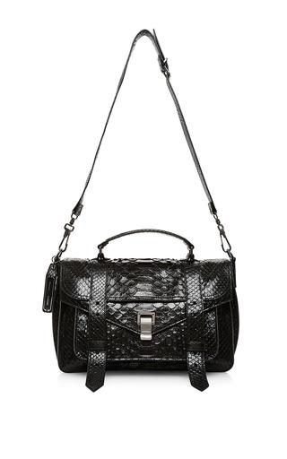 Ps1 medium satchel in black python by PROENZA SCHOULER Available Now on Moda Operandi