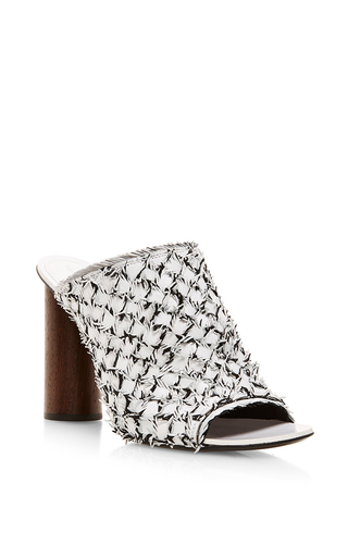 Woven high heel mules by PROENZA SCHOULER Available Now on Moda Operandi
