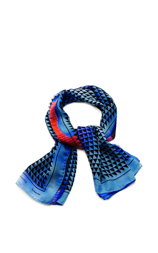 Printed silk-chiffon scarf by PROENZA SCHOULER Available Now on Moda Operandi