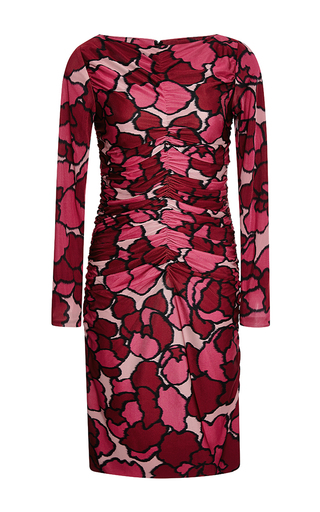 Ruched printed jersey dress by MARC JACOBS Available Now on Moda Operandi