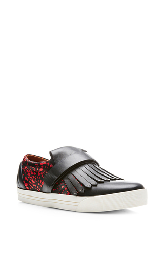 Swish printed slip-on leather sneakers by MARC JACOBS Now Available on Moda Operandi
