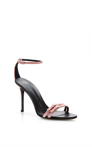 Coline double-strap patent-leather sandals by GIUSEPPE ZANOTTI Now Available on Moda Operandi