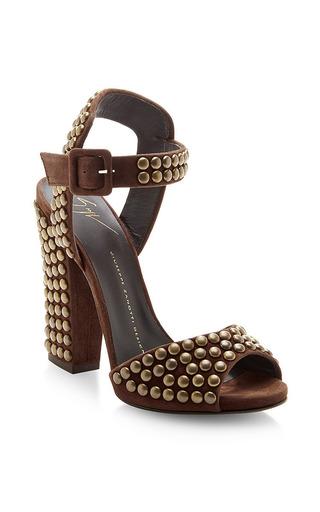 Studded Suede Platform Sandals by GIUSEPPE ZANOTTI Now Available on Moda Operandi