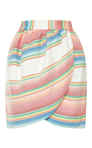 M'o exclusive: striped cotton tulip skirt by HARVEY FAIRCLOTH Now Available on Moda Operandi