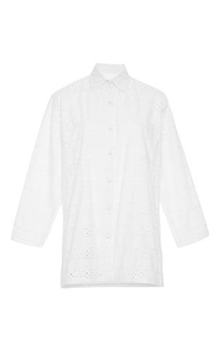 Cotton-eyelet tunic by HARVEY FAIRCLOTH Now Available on Moda Operandi