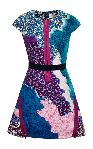 Apex printed cotton-blend twill dress by PETER PILOTTO Available Now on Moda Operandi