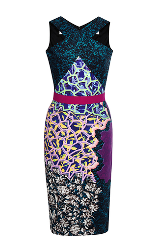 Ln printed crepe-jersey dress by PETER PILOTTO Available Now on Moda Operandi