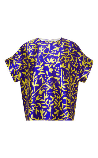 Printed silk top by PETER PILOTTO Available Now on Moda Operandi