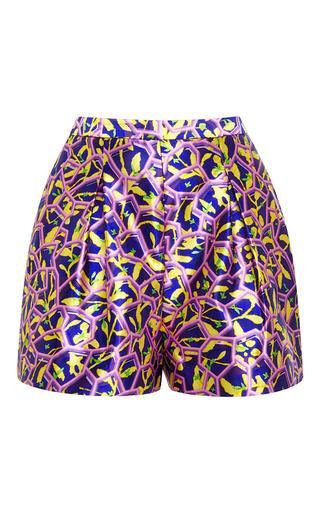 Geo printed silk-satin shorts by PETER PILOTTO Available Now on Moda Operandi