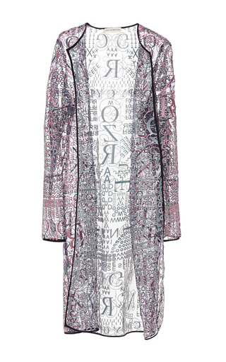 Letter nuit glitter long cardigan by MARY KATRANTZOU Now Available on Moda Operandi
