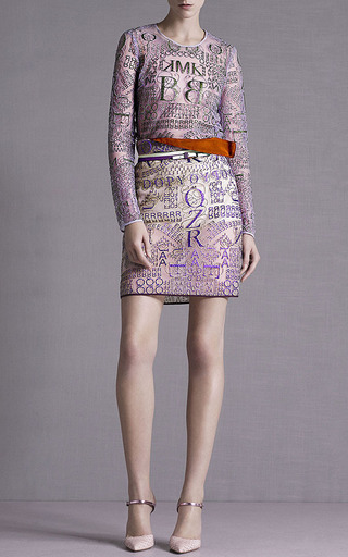 Letter Rose Glitter Pencil Skirt by Mary Katrantzou for Preorder on Moda Operandi