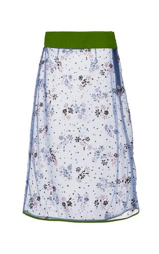 Floral Steel Glitter Pencil Skirt by Mary Katrantzou for Preorder on Moda Operandi