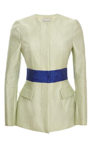 Alphabet absinthe jacquard safari jacket by MARY KATRANTZOU Preorder Now on Moda Operandi