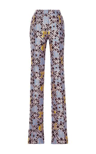 Forget me not jacquard safari trousers by MARY KATRANTZOU Preorder Now on Moda Operandi