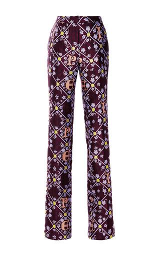 Iris jacquard safari trousers by MARY KATRANTZOU Preorder Now on Moda Operandi