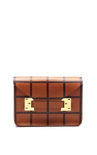Mini Envelope Bag In Oxblood Print by Sophie Hulme for Preorder on Moda Operandi