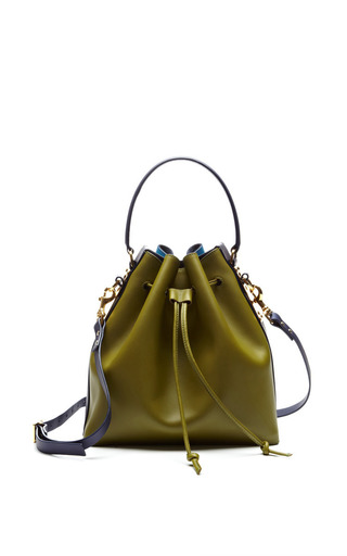 Large Drawstring Bucket Bag by Sophie Hulme for Preorder on Moda Operandi