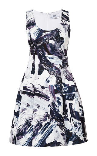 Printed flared sleeveless dress by PRABAL GURUNG Now Available on Moda Operandi
