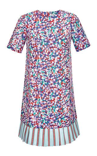 Printed pleated-hem twill dress by SUNO Now Available on Moda Operandi