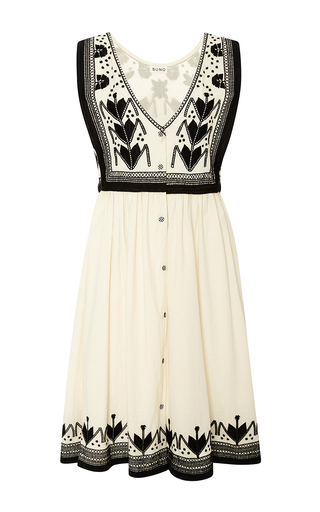 Embroidered cotton dress by SUNO Now Available on Moda Operandi