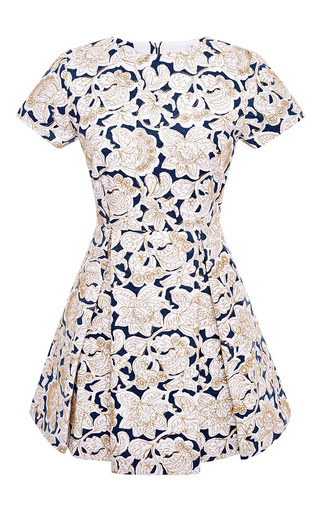 Pleated embroidered canvas dress by SUNO Available Now on Moda Operandi