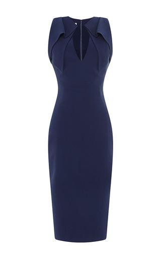 Folded collar stretch-crepe dress by ANTONIO BERARDI Available Now on Moda Operandi