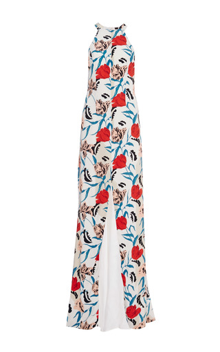 Floral-print crepe gown by THAKOON Available Now on Moda Operandi