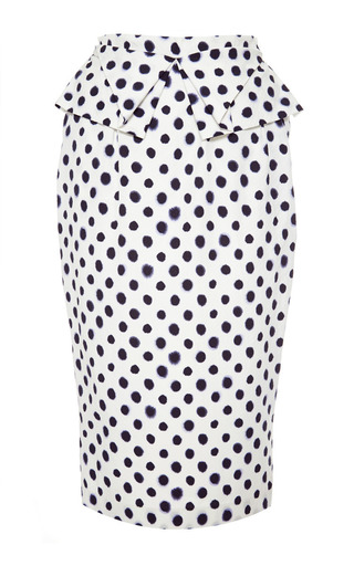 M'o exclusive : anabelle embossed taffeta skirt by SALONI Now Available on Moda Operandi