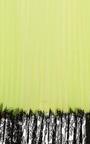 Christopher Kane - Neon Yellow Pleated Tulle Skirt