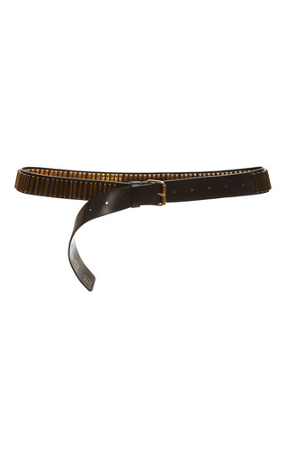 Black and gold belt by FAUSTO PUGLISI Preorder Now on Moda Operandi
