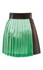 Fausto Puglisi - Black And Green Pleated Mini Skirt